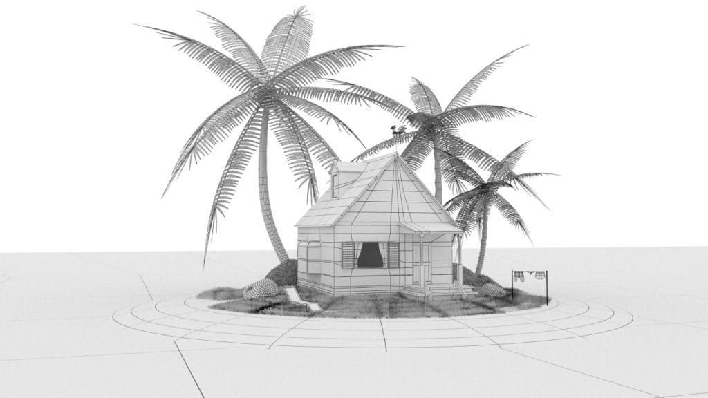 3d house dragonball kame
