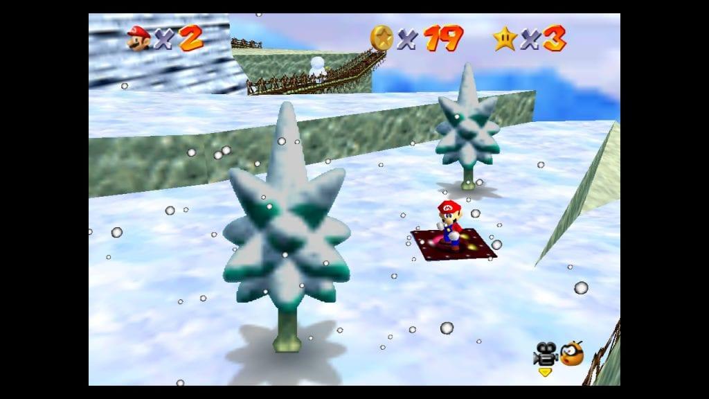 Nível da neve no Super Mario 64