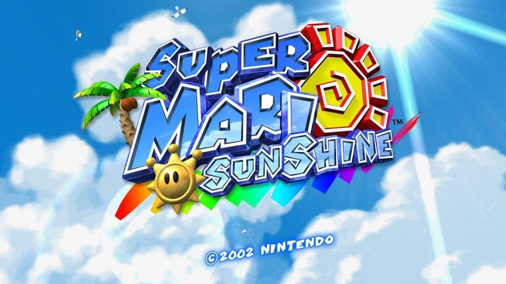 Start Menu de Super Mario Sunshine © Nintendo