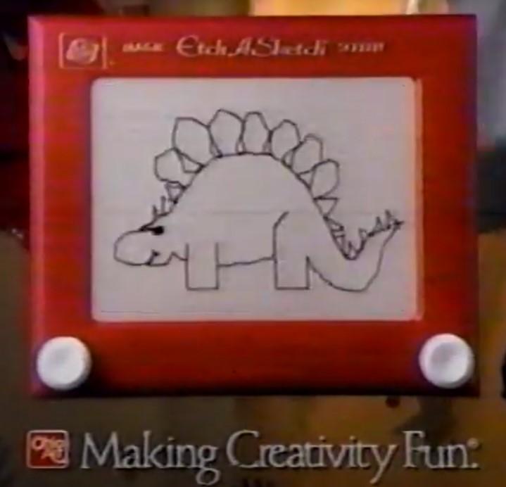 etch a sketch jogo desenho magnetico classico