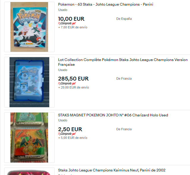 Pokémon Staks da Panini: Lembras-te deles? Brinquedos, Anos 2000, Blog, Nostalgia
