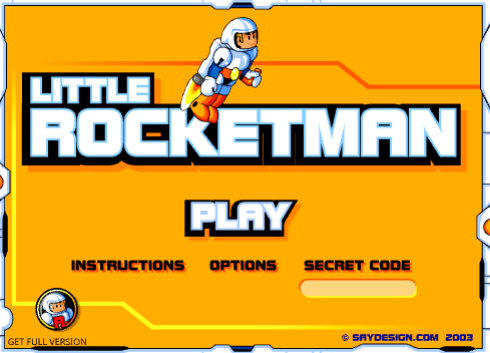 jogo flash little rocketman astronauta miniclip