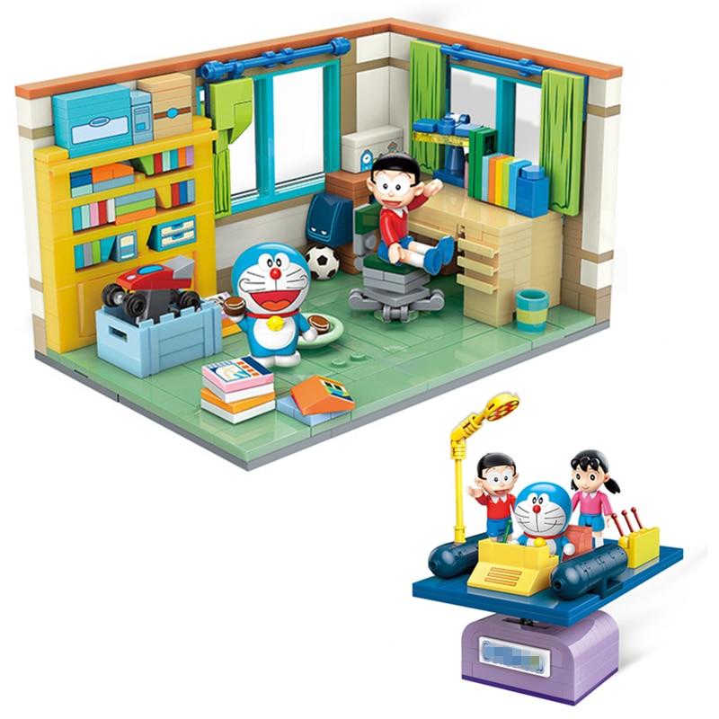 Maquete Quarto e figura Nobita Doraemon