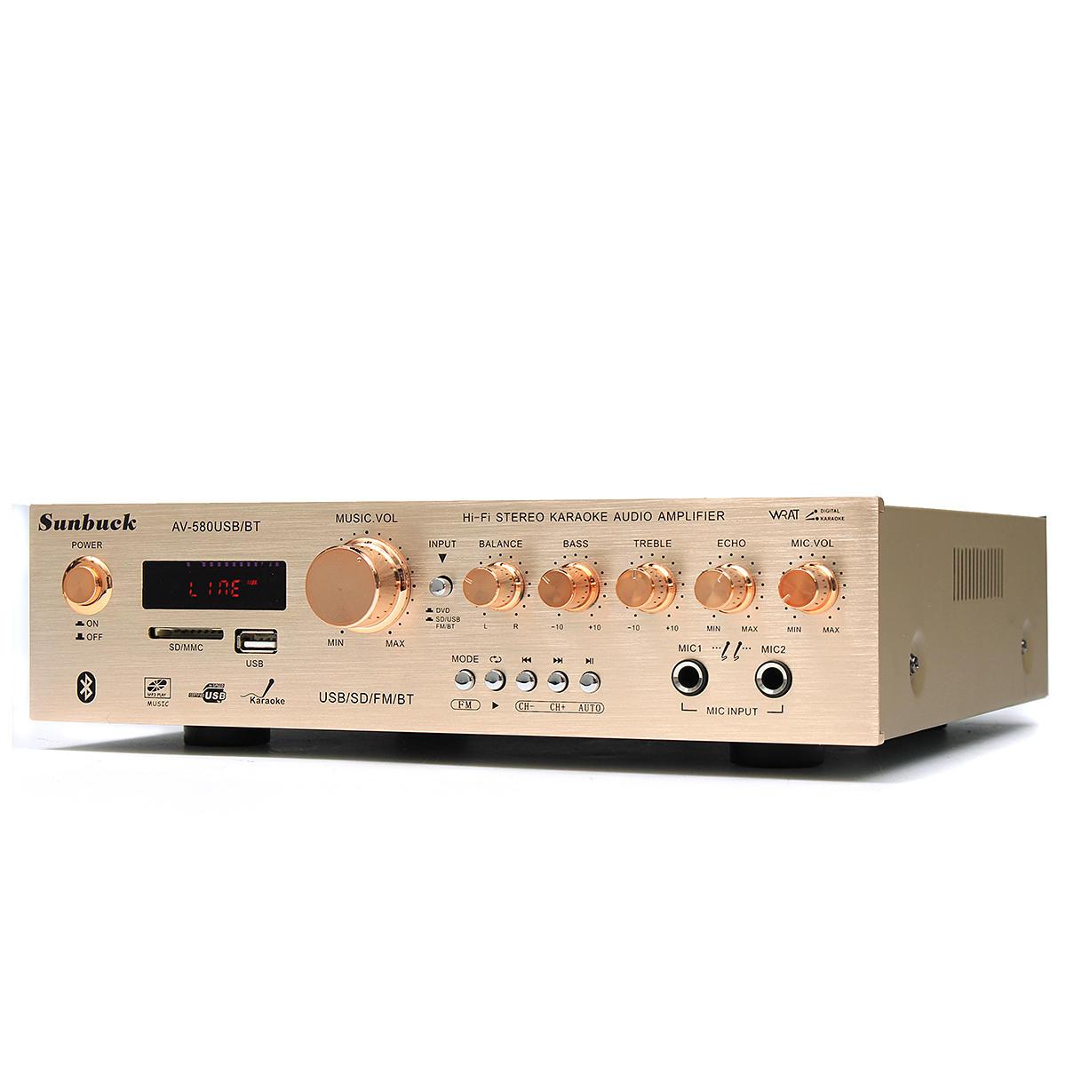 Amplificador Hifi Sunbuck AV-580 200W USB, Bluetooth, Radio