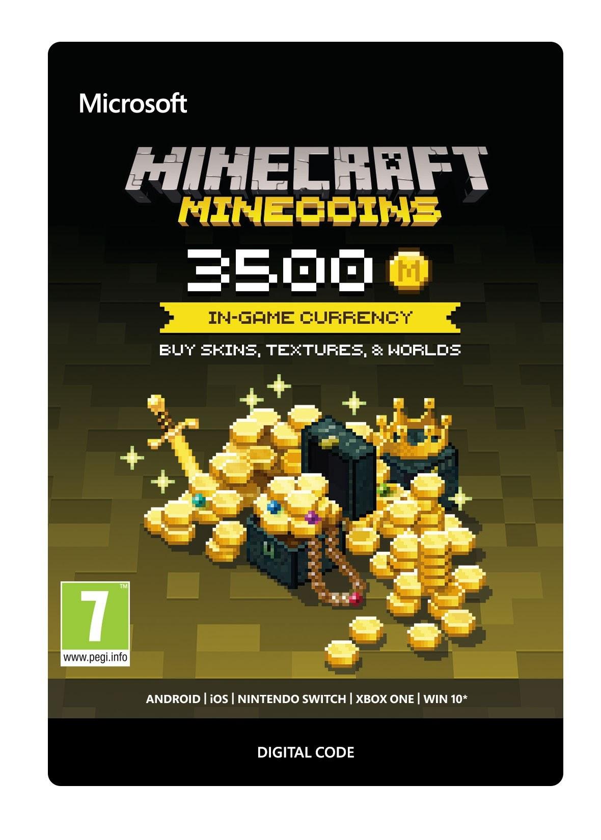 Comprar Código 3500 Minecraft Minecoins