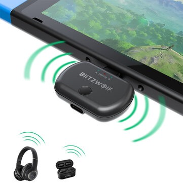 BlitzWolf BW-BL1 Transmissor Audio Bluetooth USB type C para Nintendo Switch