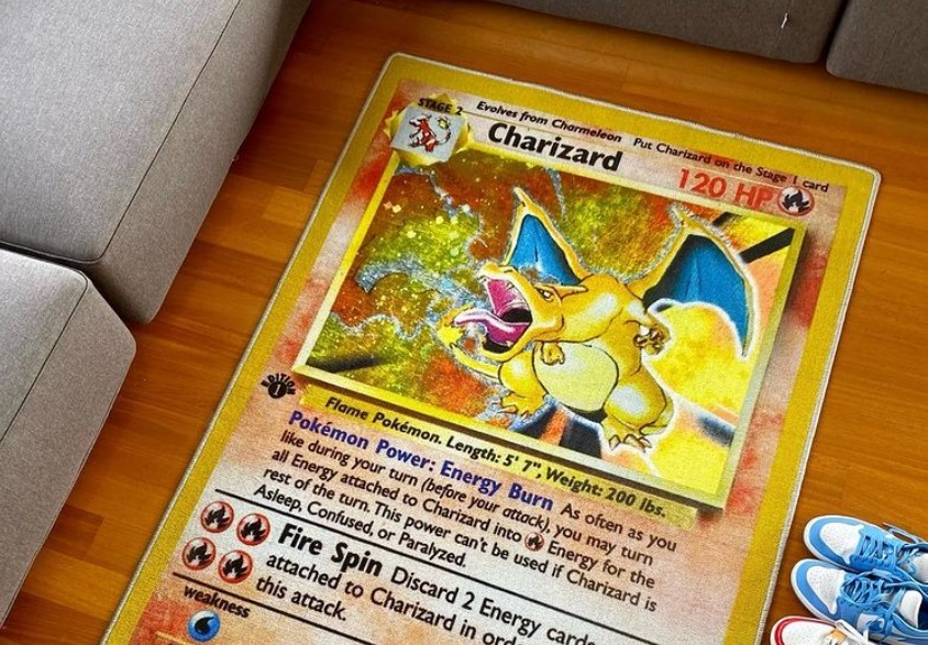 charizard tapete carta pokemon