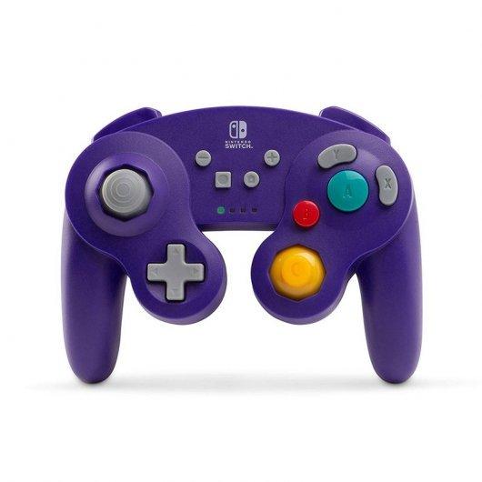 Comando GameCube Nintendo Switch PowerA Púrpura